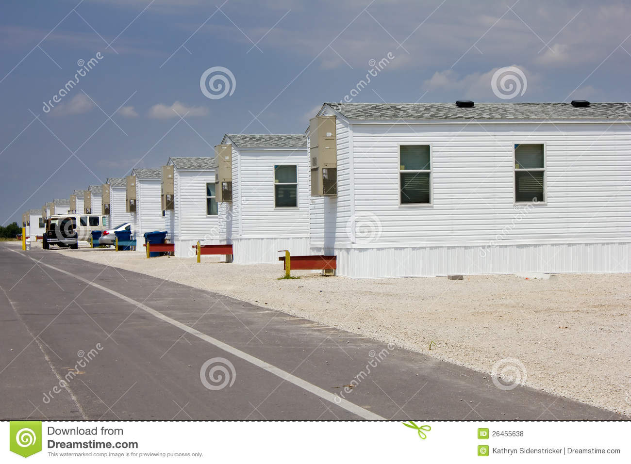 FEMA Trailer Park In Joplin Missouri Royalty Free Stock Photos