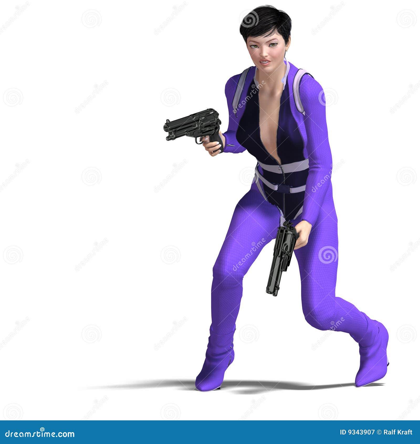 Female Agent Blue