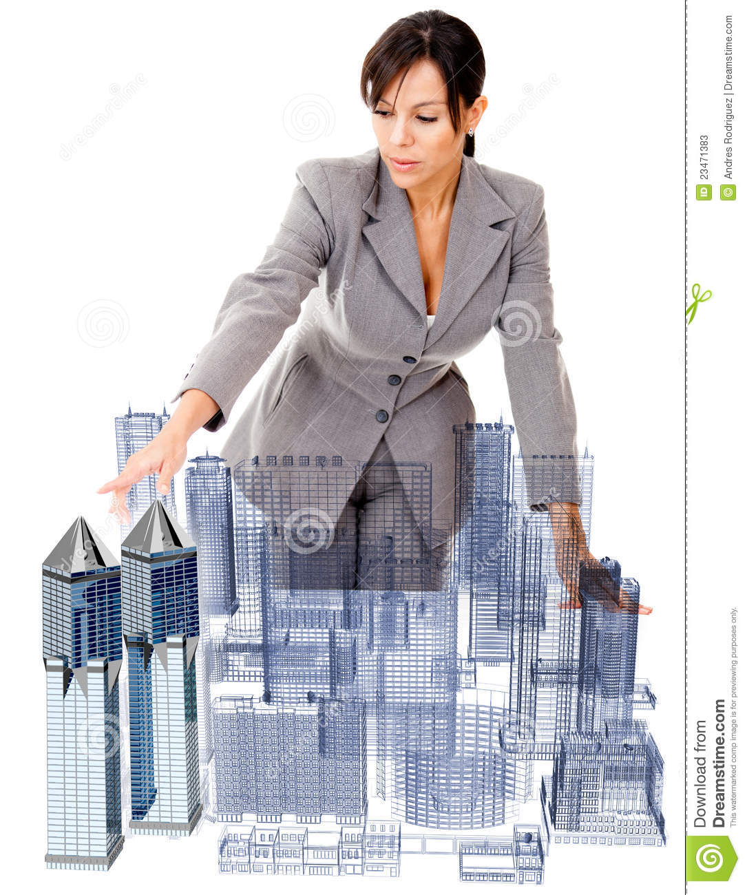 Female architect stock photos image 23471383 for How to be an architect