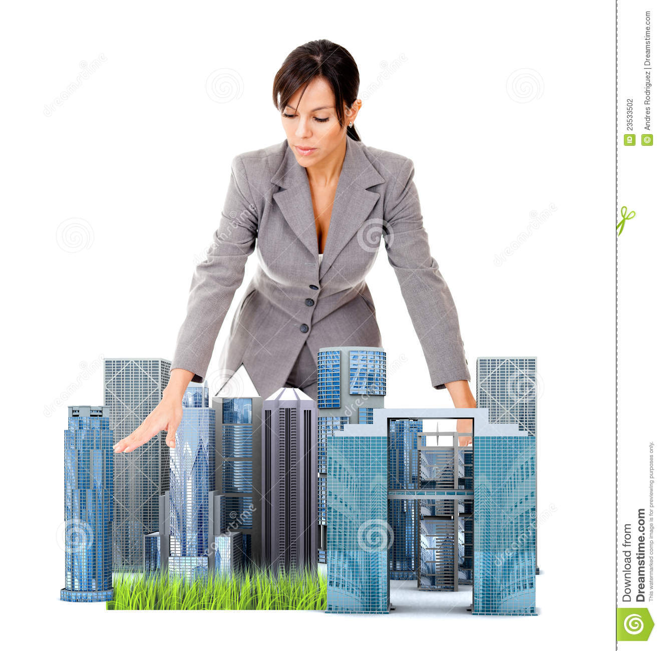 Female architect with ...