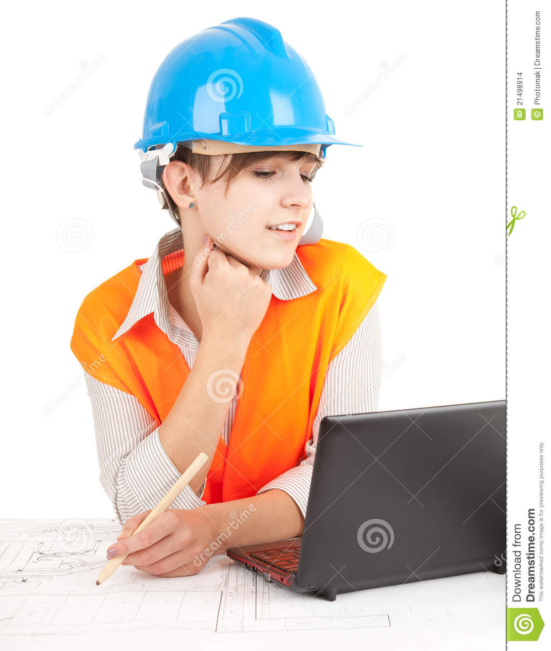 Female architect at work stock images image 21498914 for Architect at work