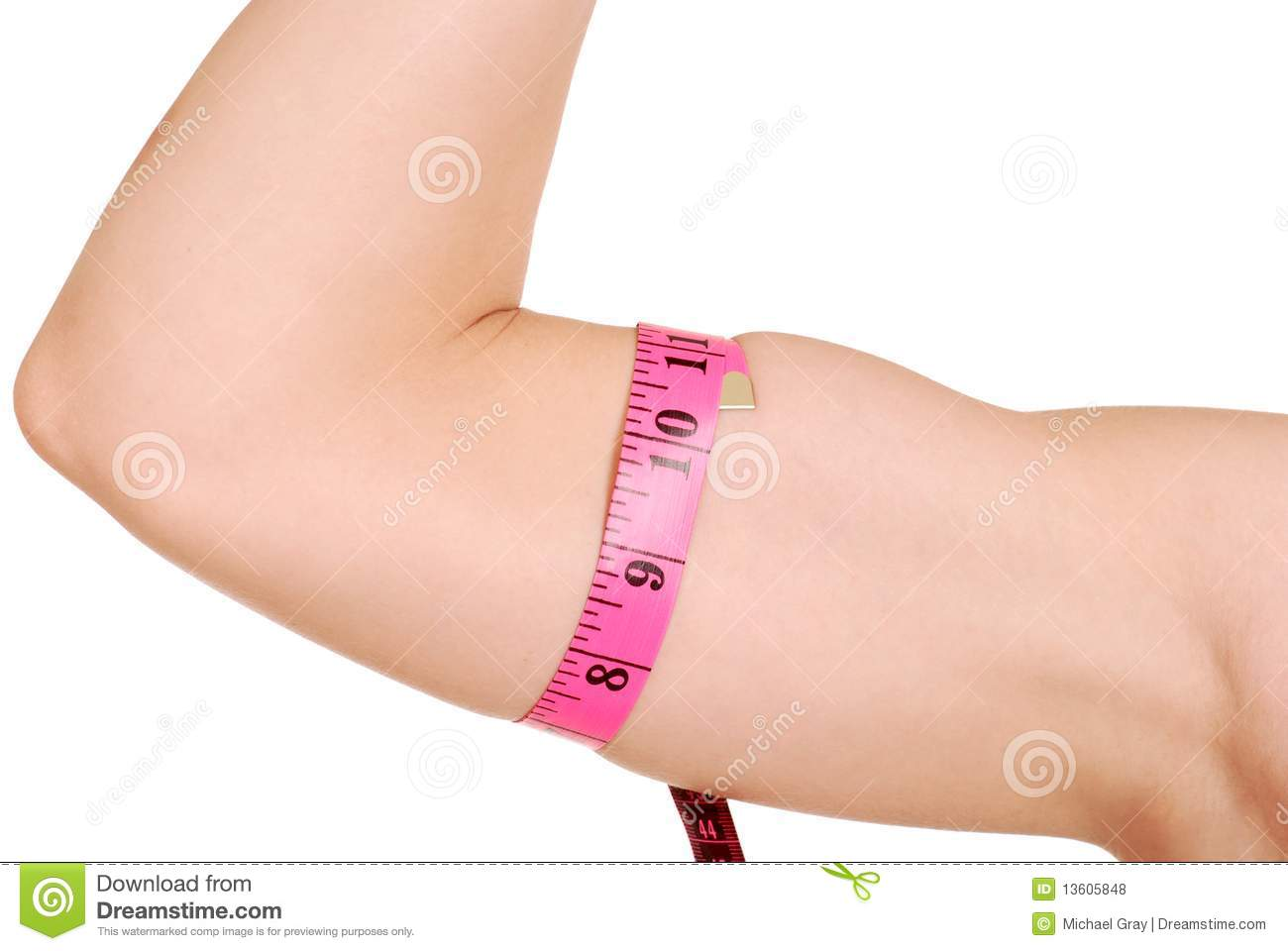female arm with tape measure around bicep royalty free stock photos image 13605848. Black Bedroom Furniture Sets. Home Design Ideas