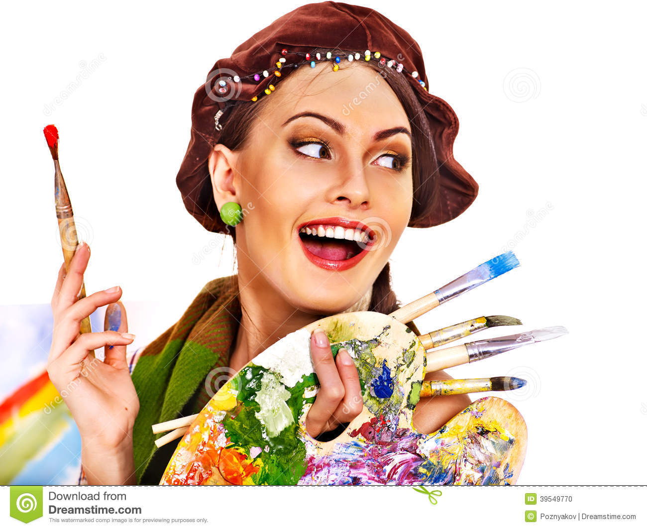 Female Artist At Work. Stock Photo - Image: 39549770