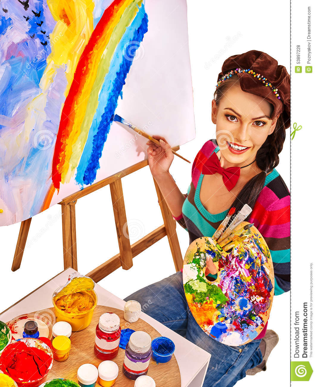 Female Artist At Work Stock Photo - Image: 53897228