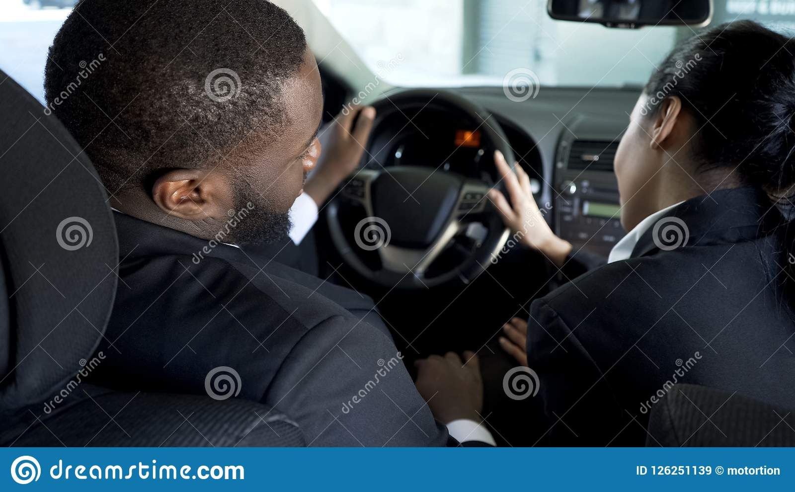 Female Assistant Flirting With Boss In His Car To Move Up Career
