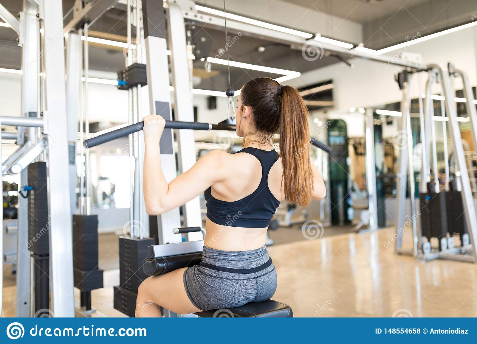 Exercise Helps To Build Lean Body Mass Stock Photo - Image