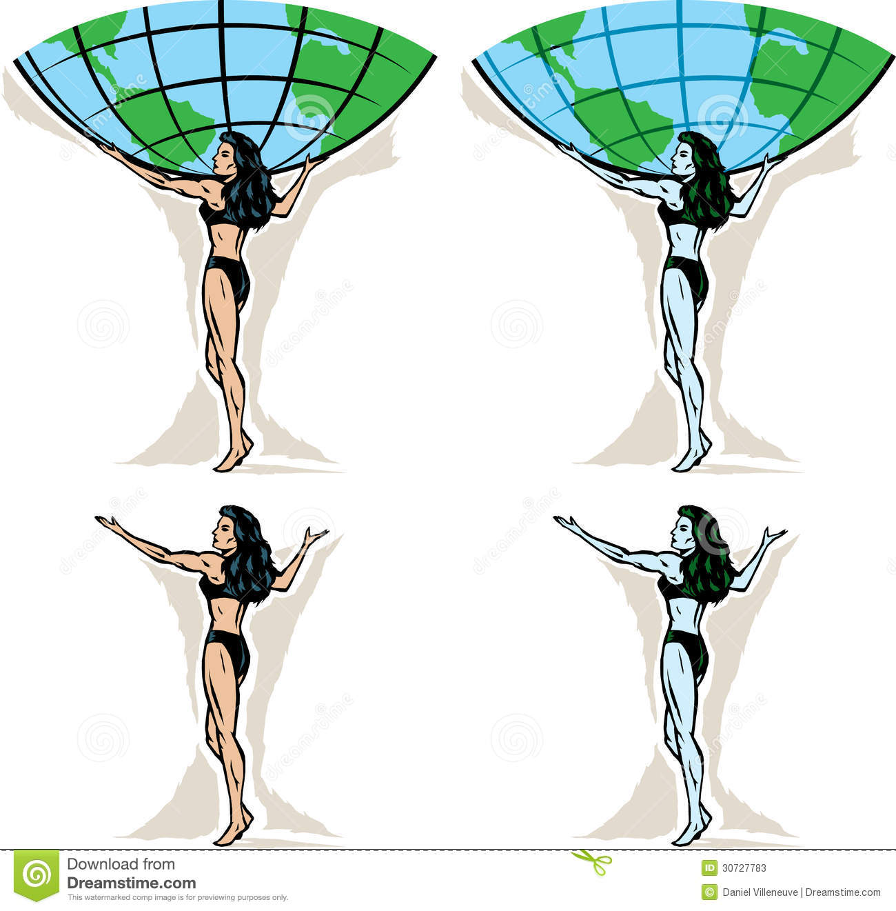 Female Atlas Carrying The World Pictures to Pin on ...