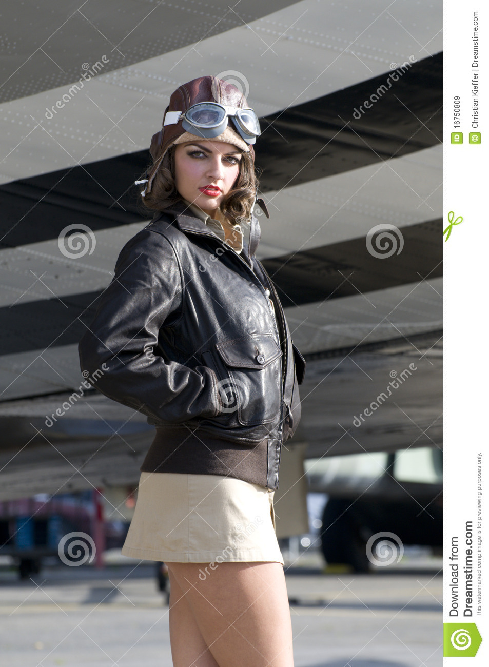 Female Aviator Stock Image Image Of Standing Attractive