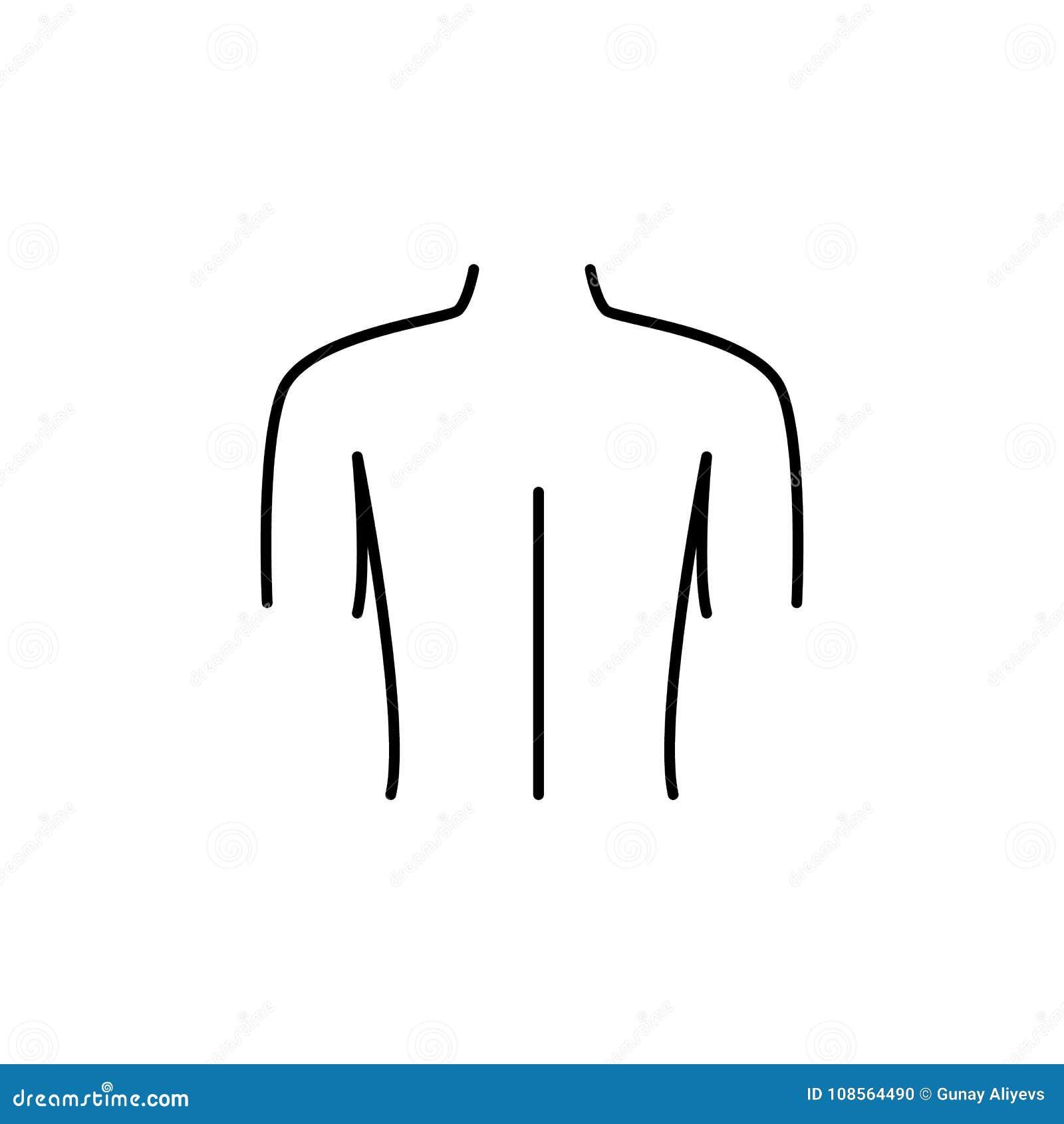Female Back Shoulder Icon. Body Part Element. Premium Quality ...