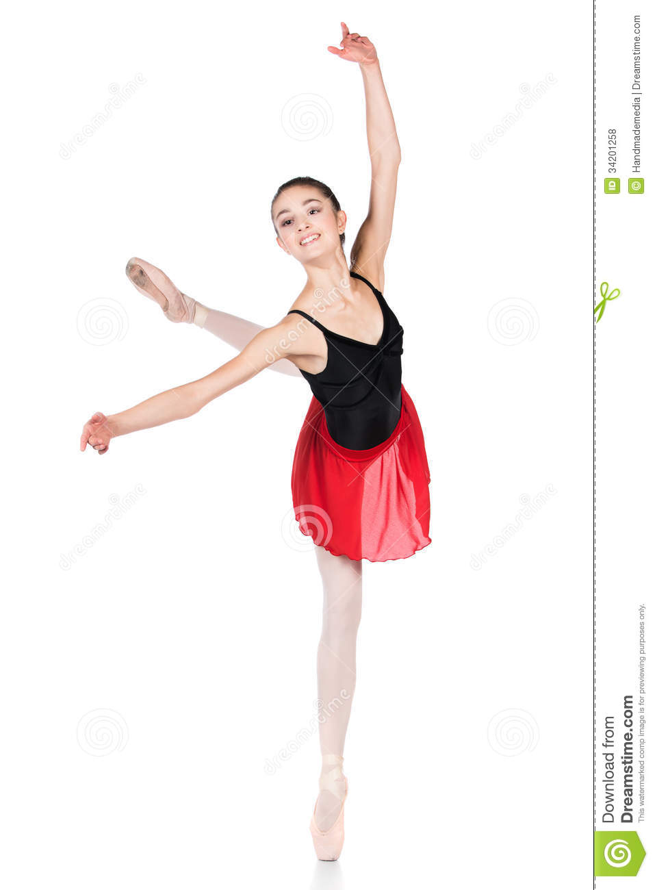 Pointe Shoes And a Red