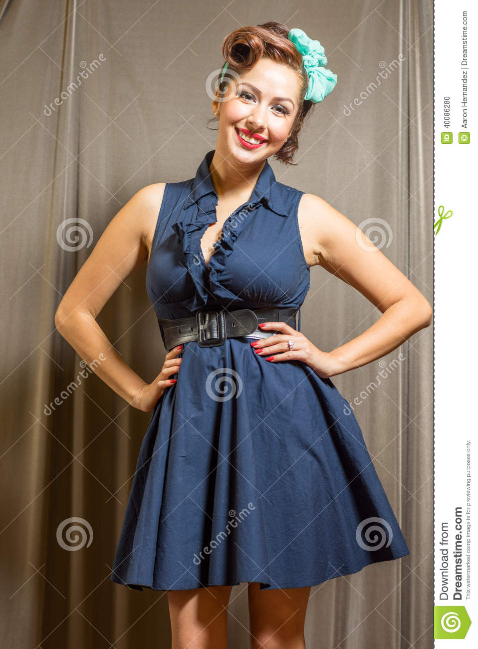 Female Beauty Inspired By Classic Era Stock Photo Image 40086280