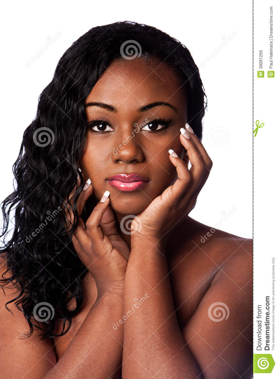 Female black beauty face stock photo image of head for Wonderful black