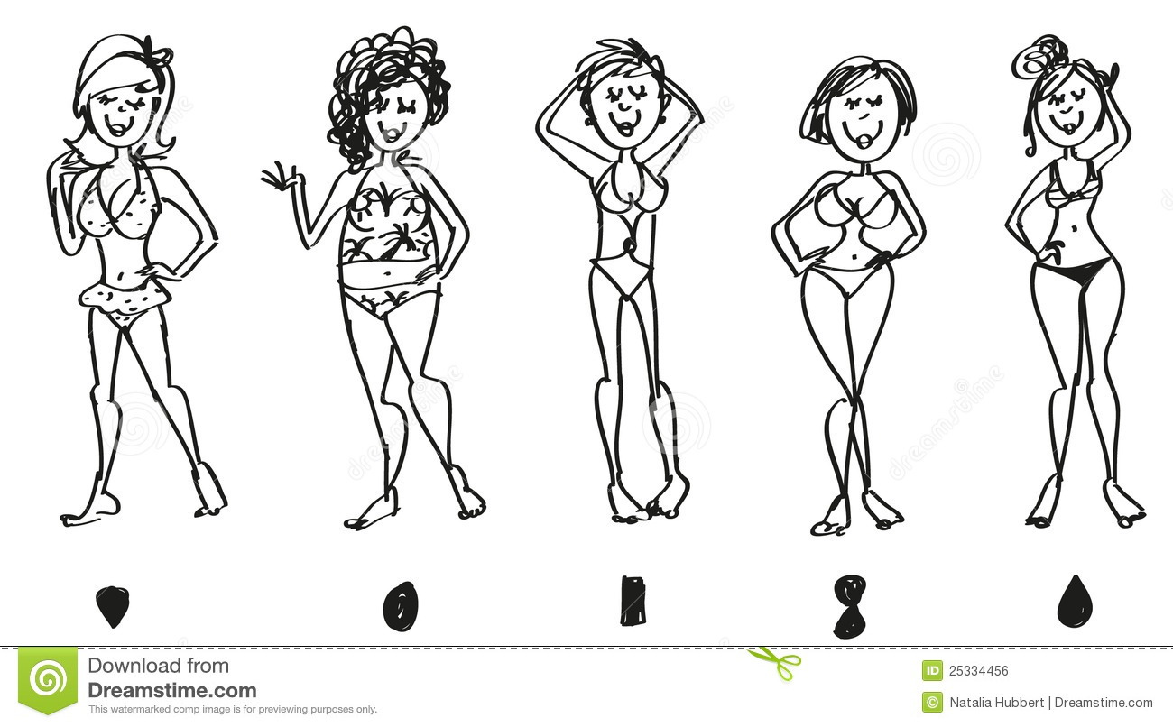 how to draw female bathing suits