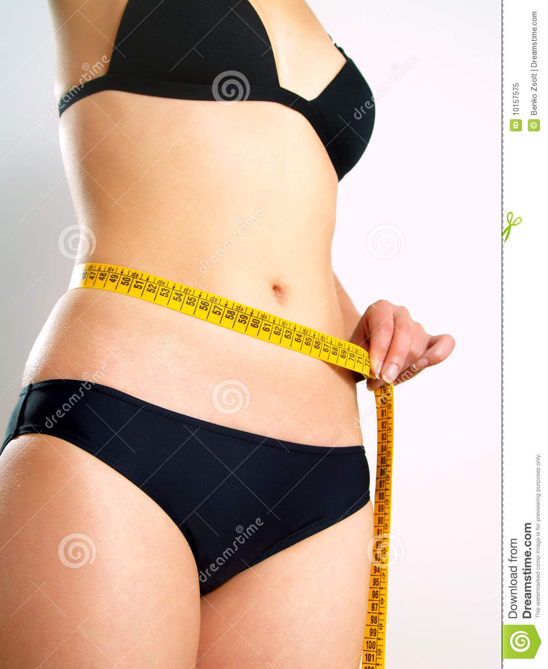 female body with tape measure stock image image 10157575. Black Bedroom Furniture Sets. Home Design Ideas