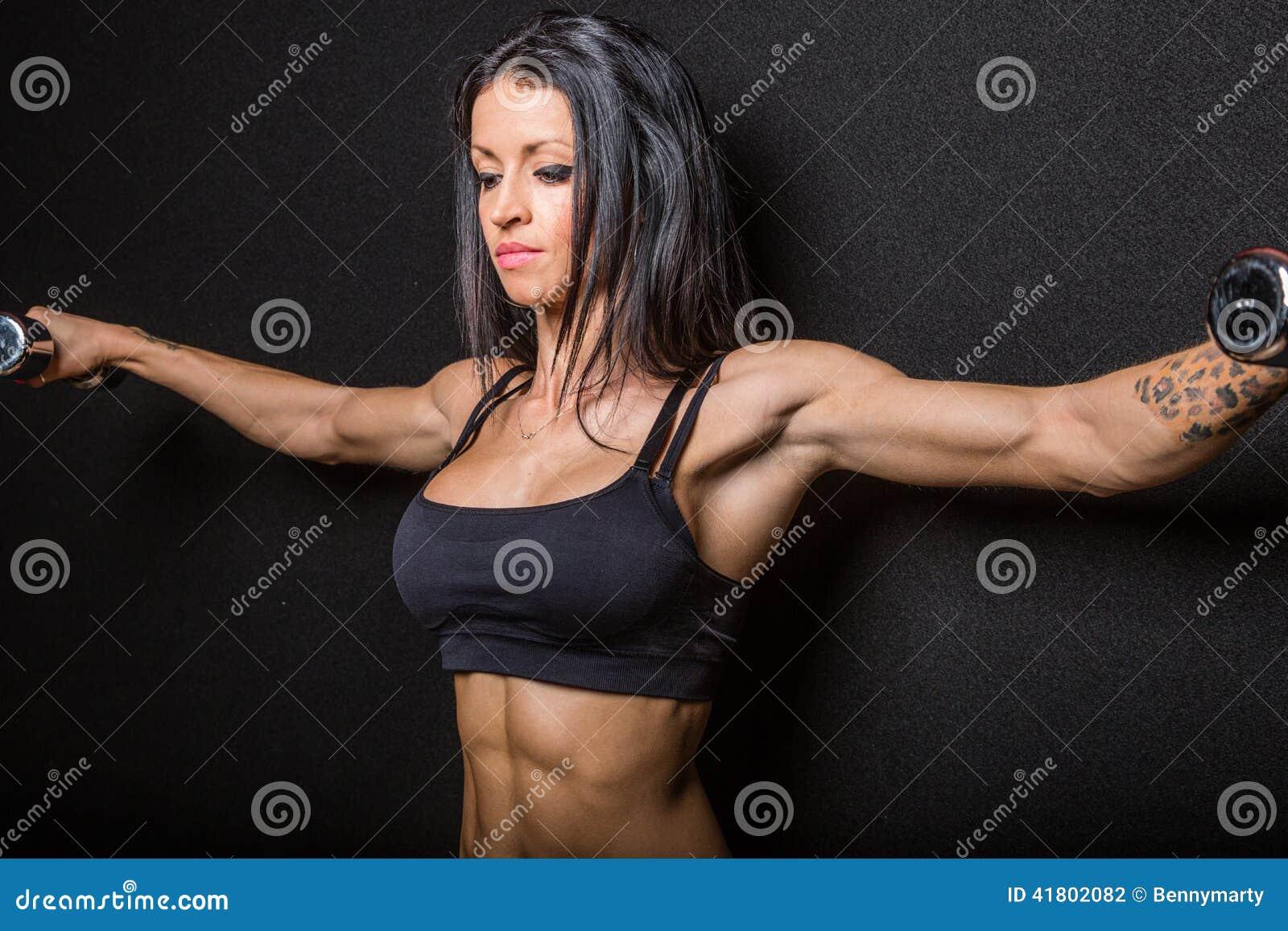 female bodybuilder muscle Black