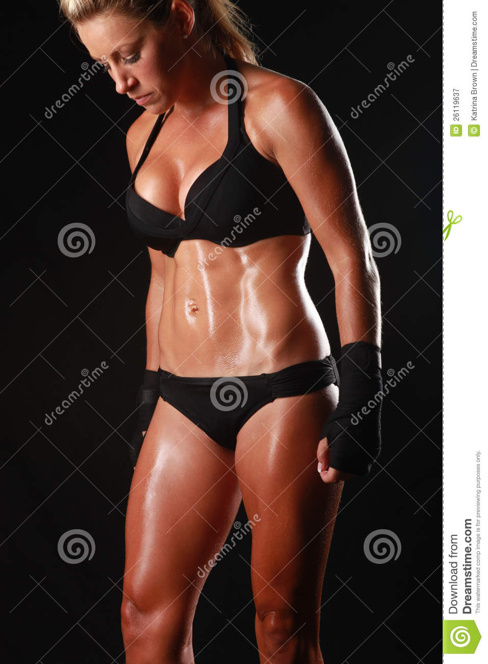 Female With Boxing Gear Stock Image Image Of Exercise