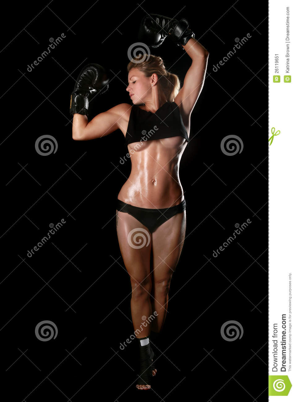 Female With Boxing Gea...