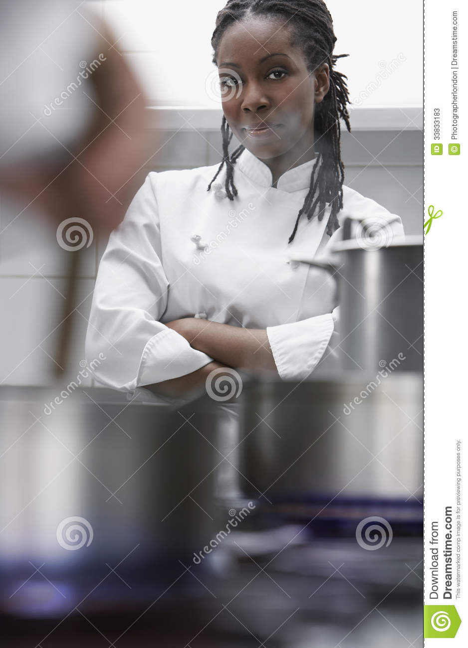 Female Chef In Kitchen Stock Photos Image 33833183