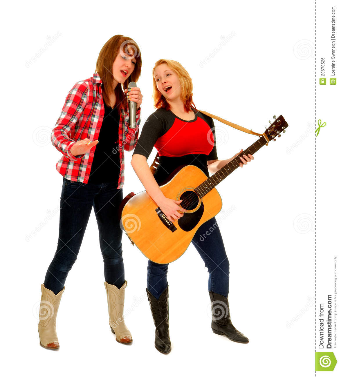 Female Country Singing Duet Stock Photo Image Of Song Pair