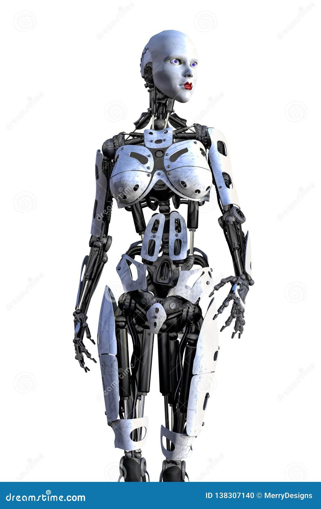 Female Cyborg Robot Isolated Stock Photo Illustration Of Cover Cyborg 138307140