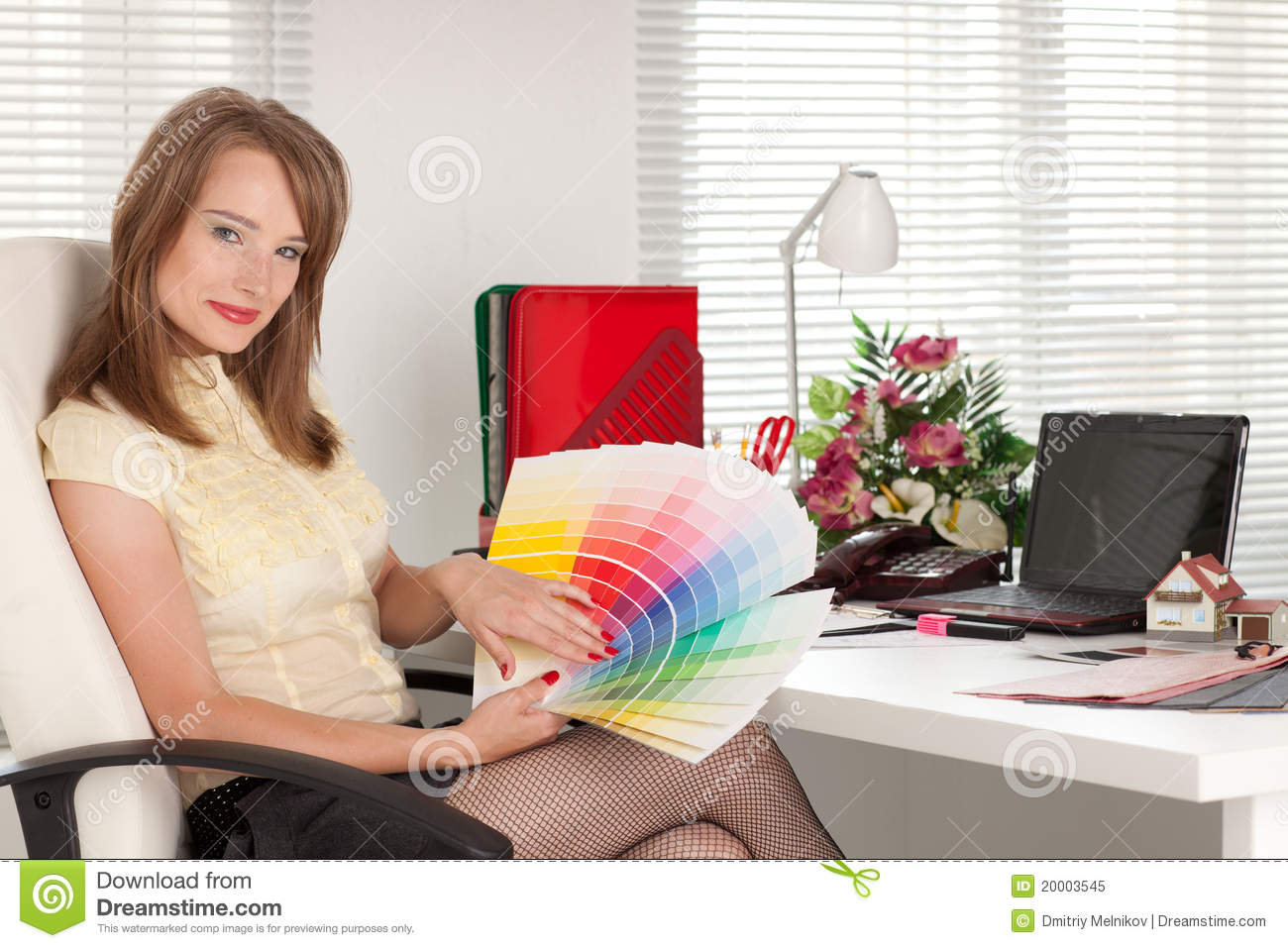 Female Designer Of Interior Royalty Free Stock Photo