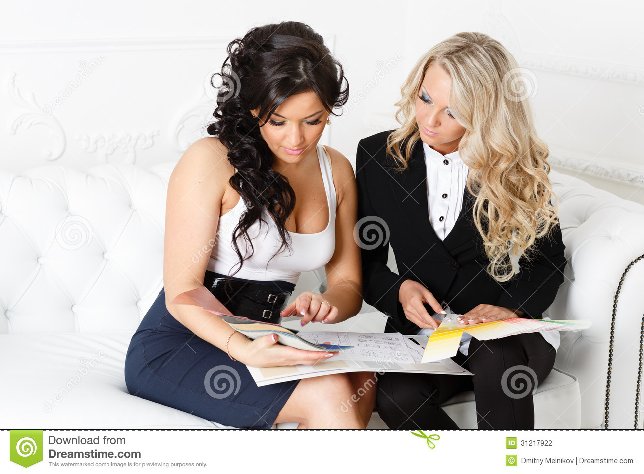 Female Designer Of Interior Stock Photography Image