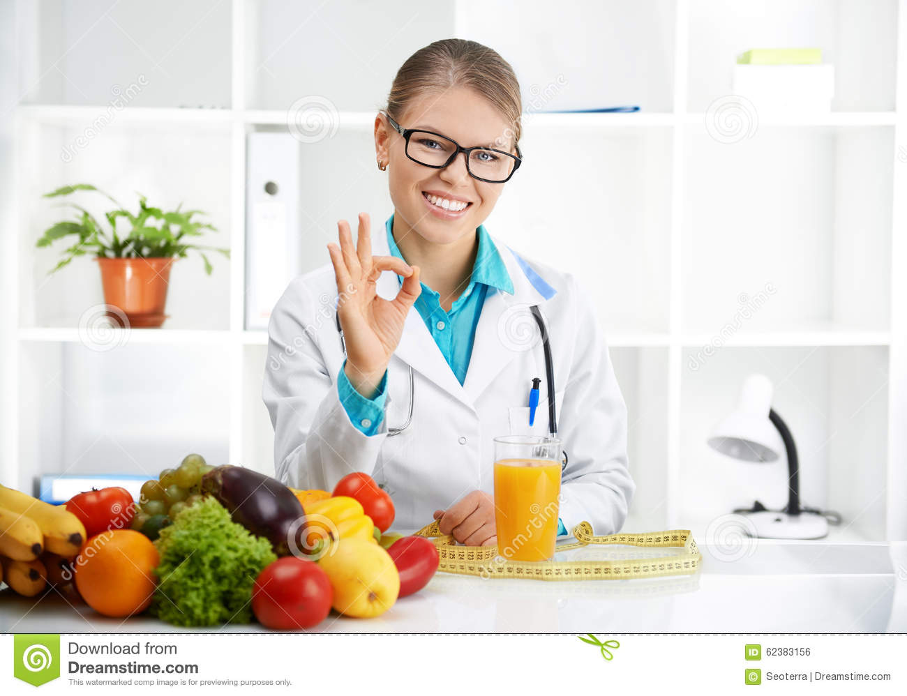 Female Dietitian stock photo. Image of healthcare, doctor ...