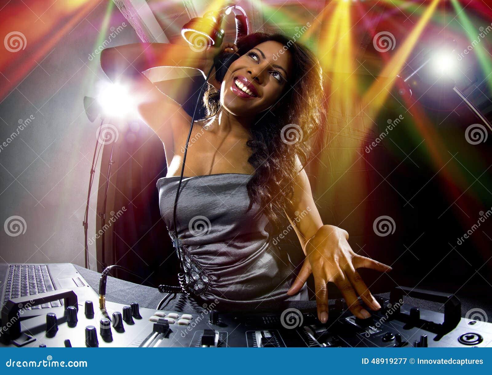 female dj stock photo image 48919277