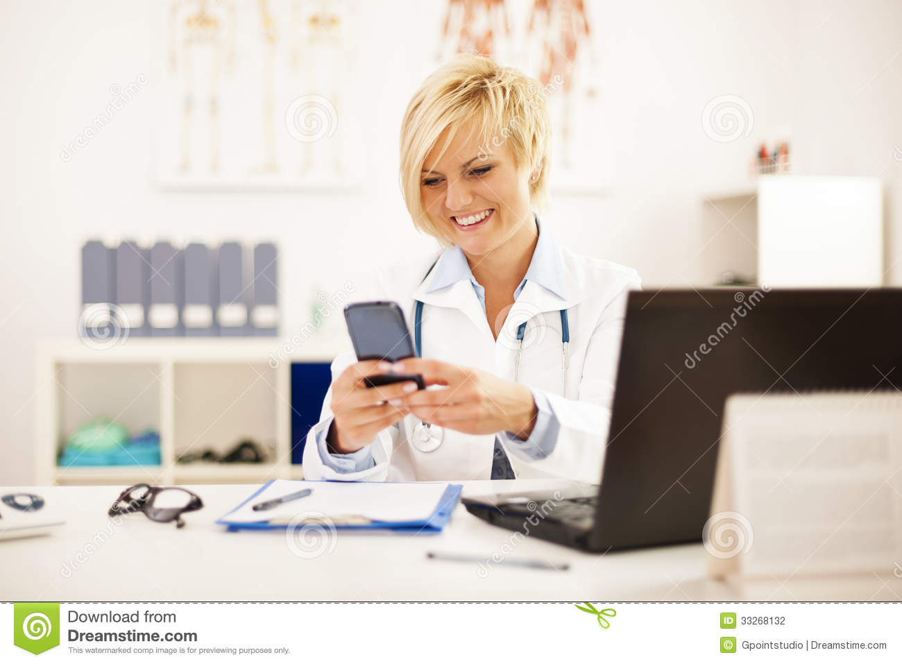 Female Doctor Stock Photography - Image: 33268132