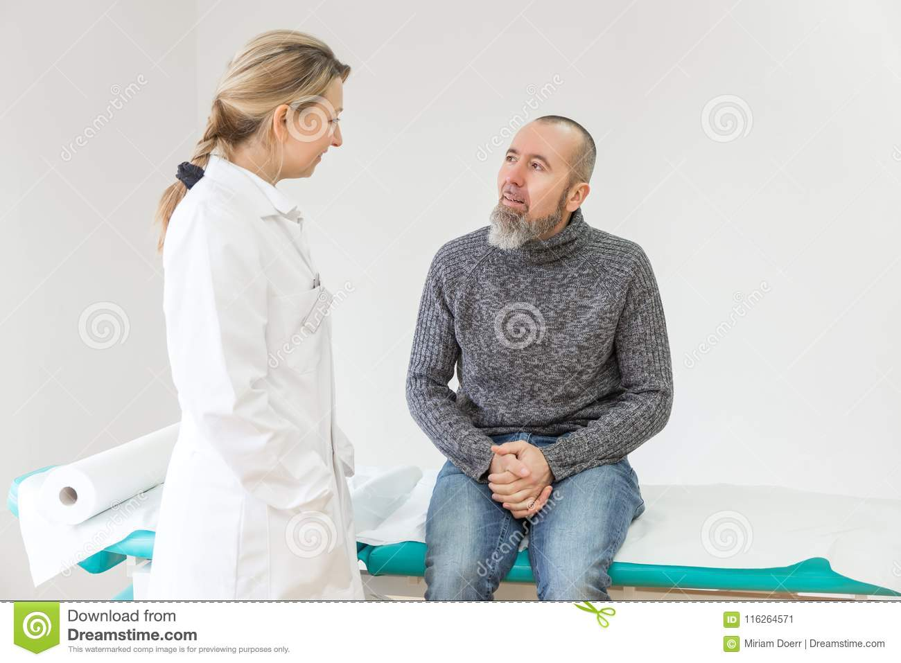Female doctor is having a consultation