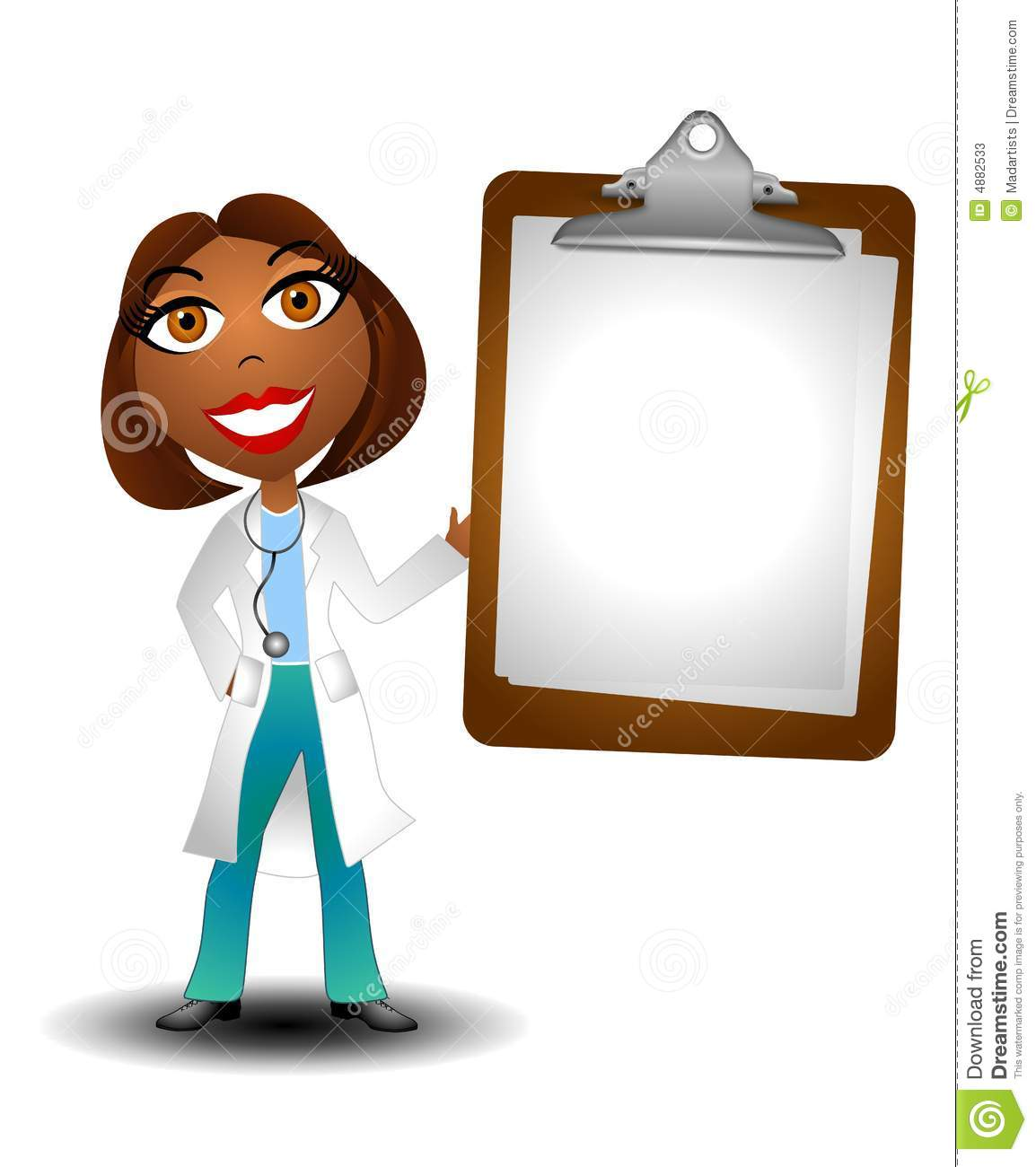 An illustration featuring a female african american doctor holding a ...