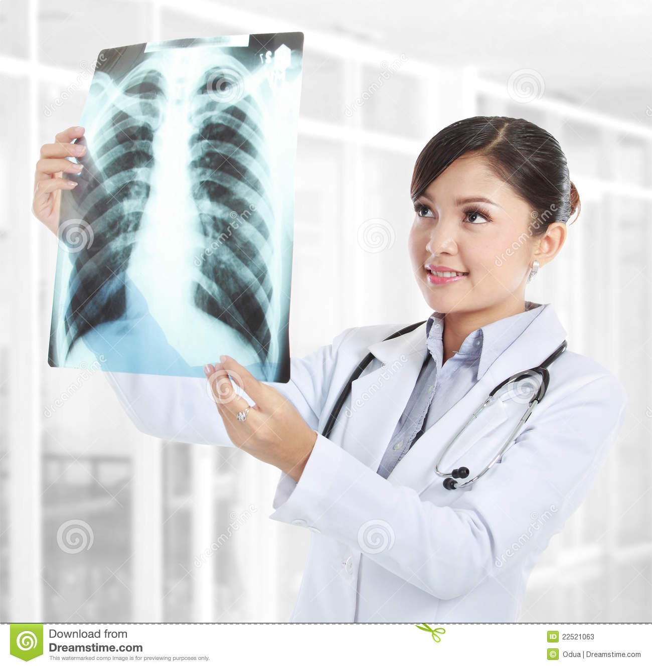Female doctor looking at an x ray stock photos image 22521063