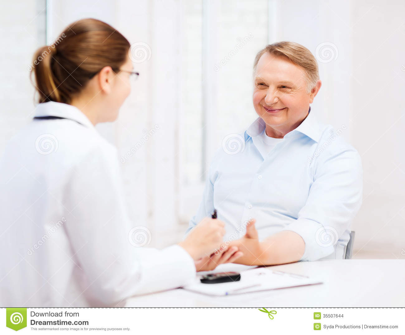 Diabetes Patient Senior Woman Measuring Glucose Level ...