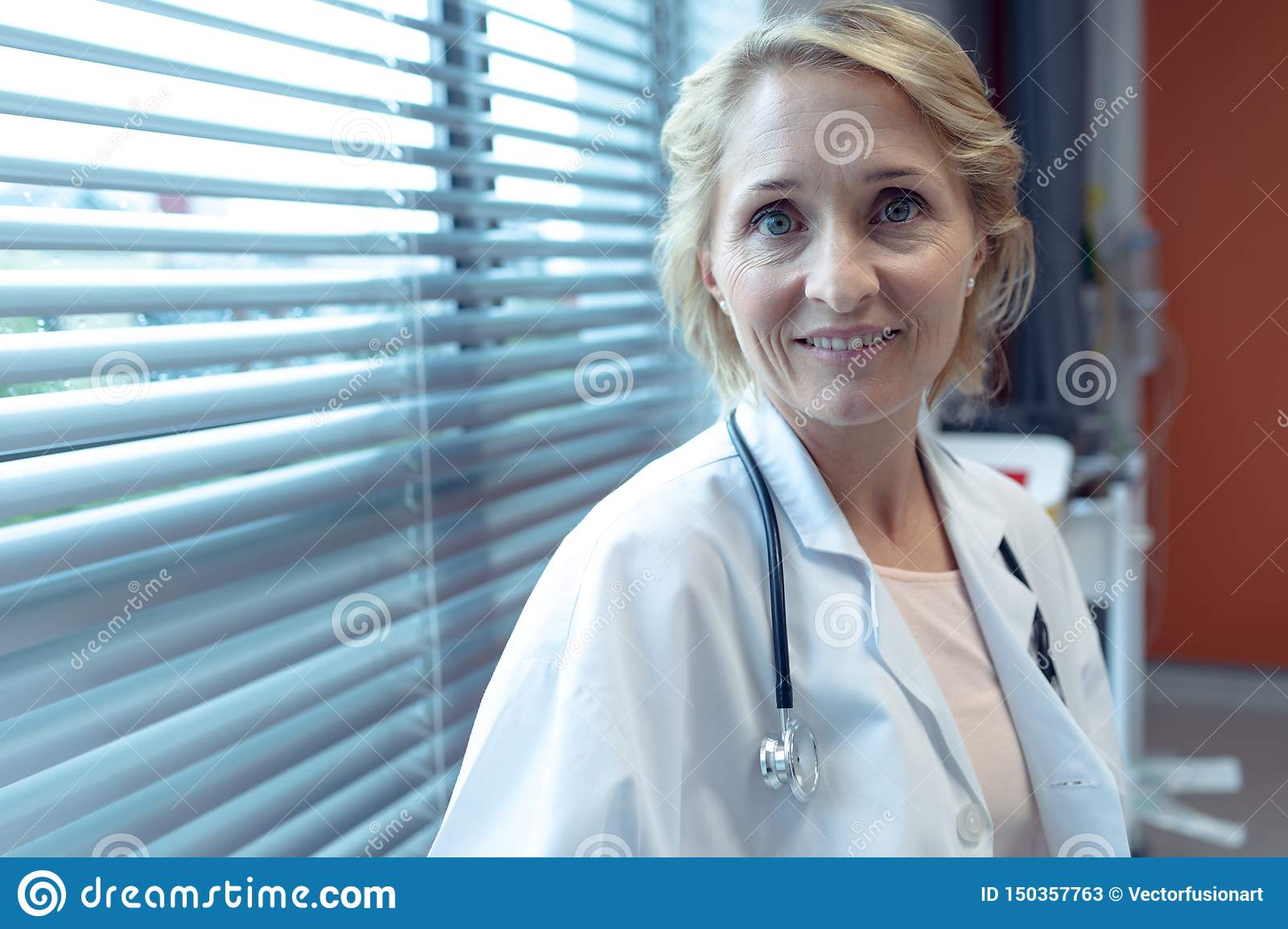 Female doctor smiling in the hospital