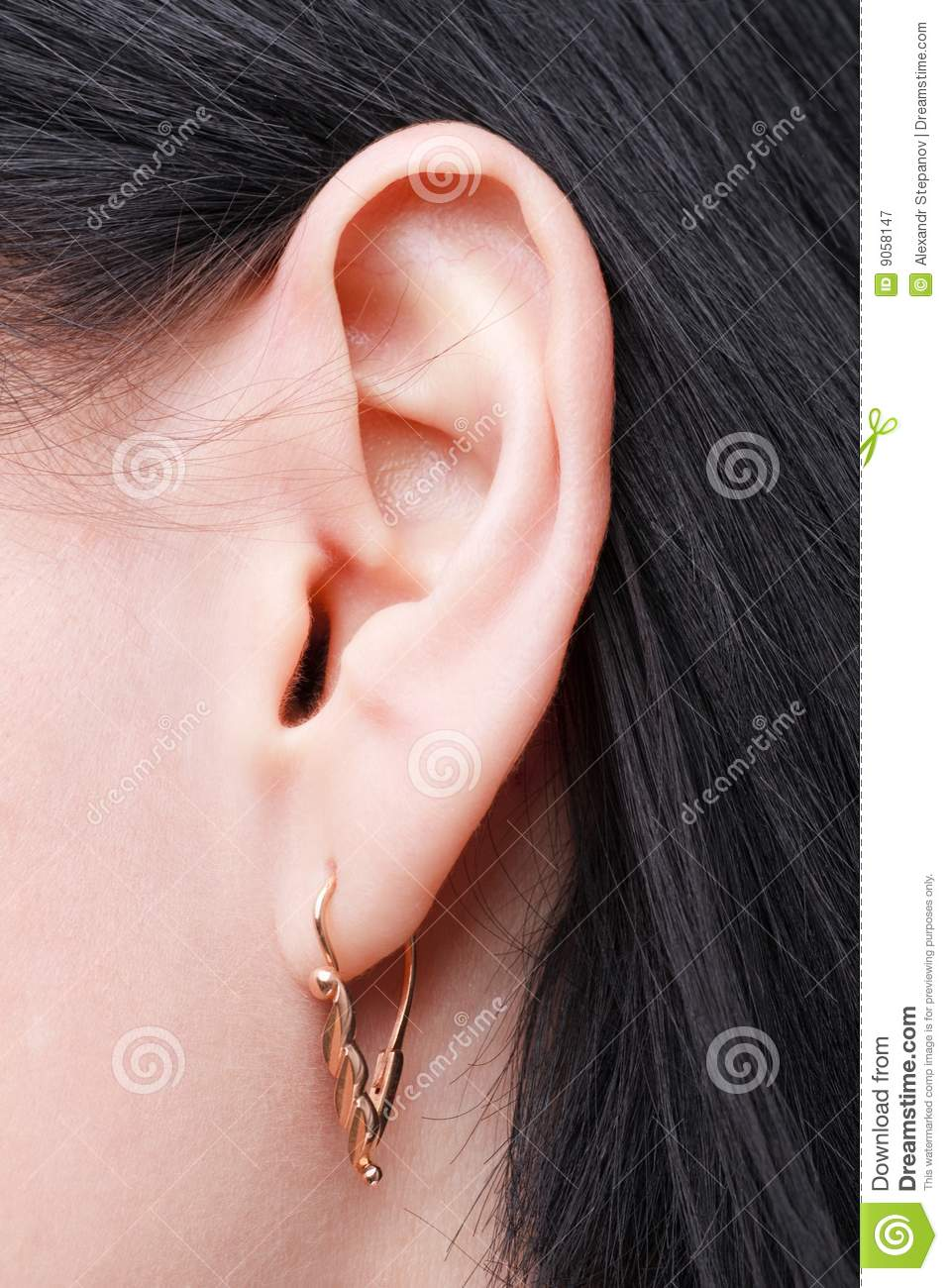 female ear royalty free stock photography