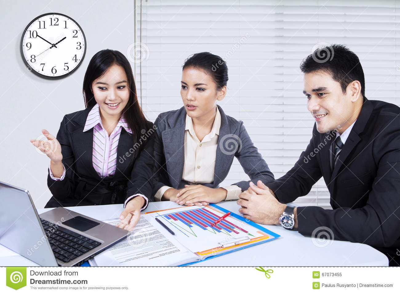 download female entrepreneur presenting business plan stock image image of finance asian 67073455