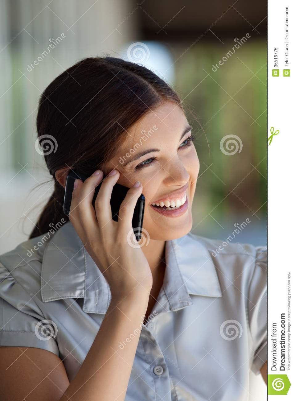 Female Executive Talking on Cell Phone