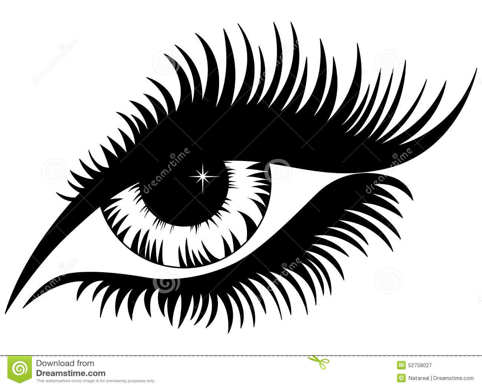Female Eye Black Silho...