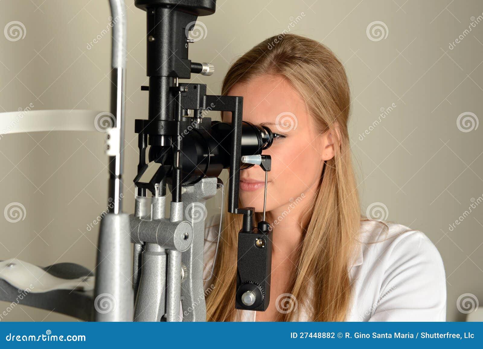 Female Eye Doctor in Examination Room