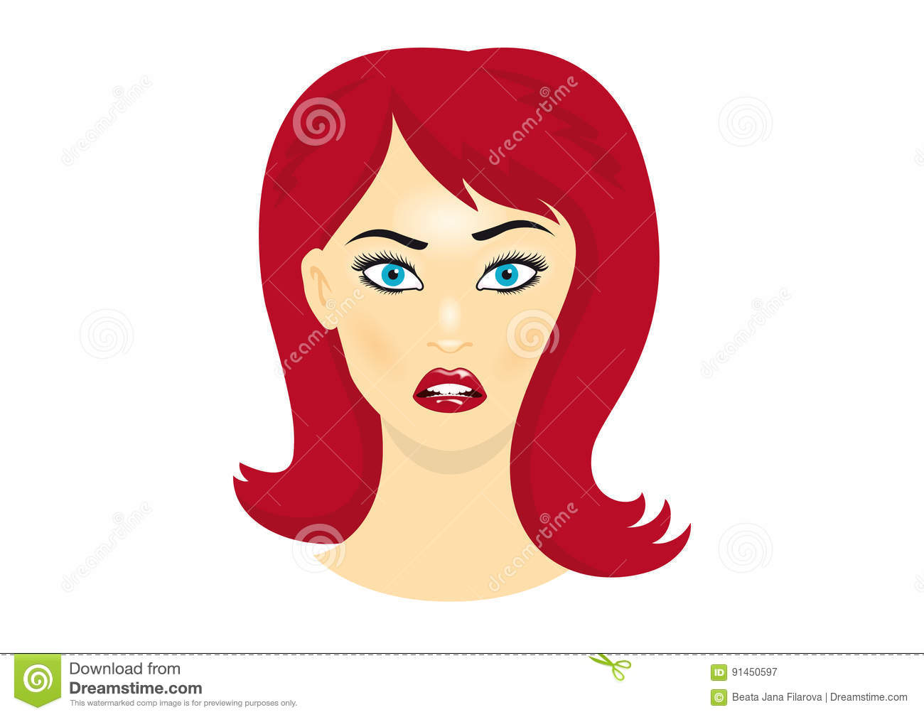 Sexy Redhead Cartoons, Illustrations & Vector Stock Images