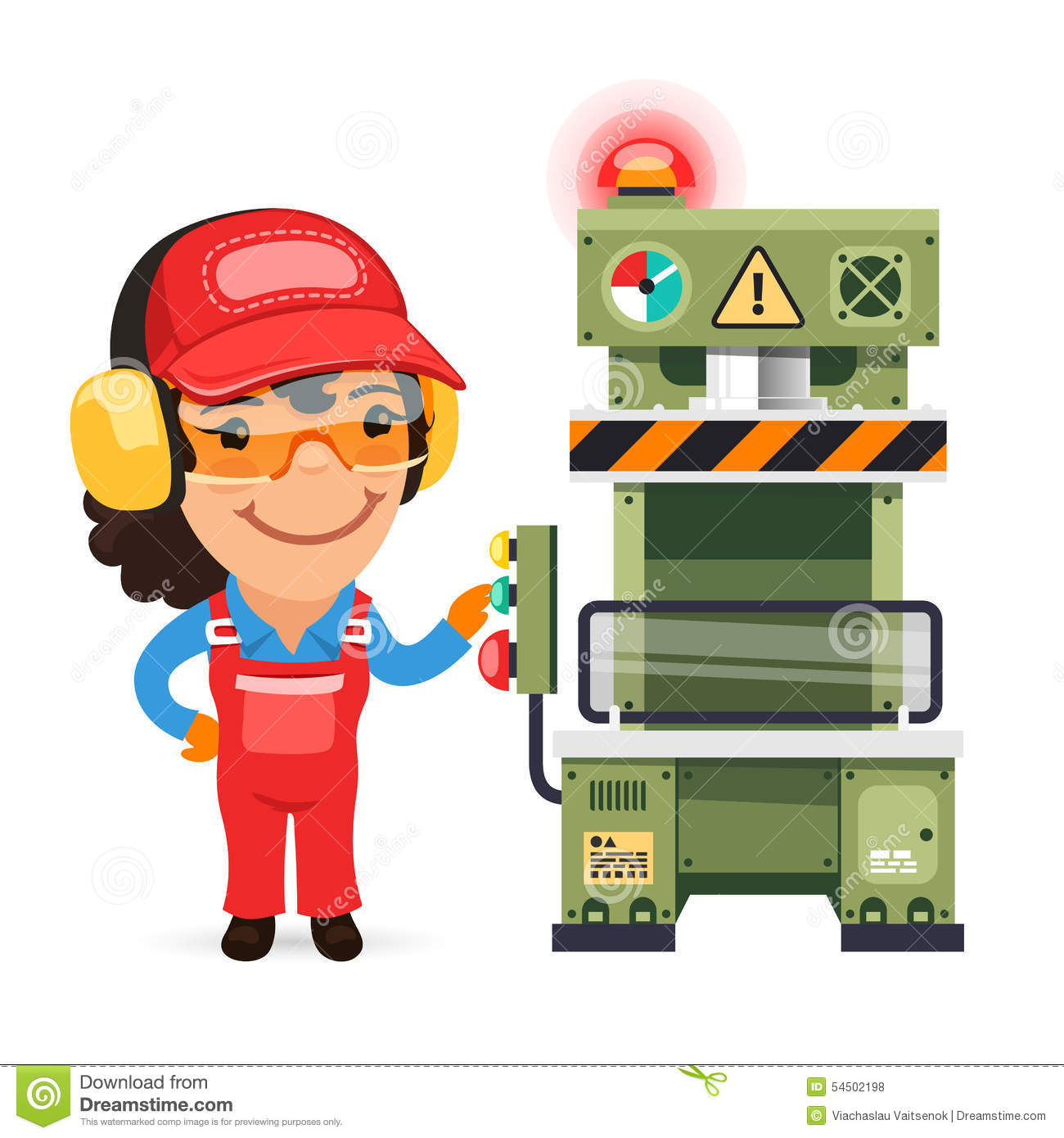 Sad factory worker clipart