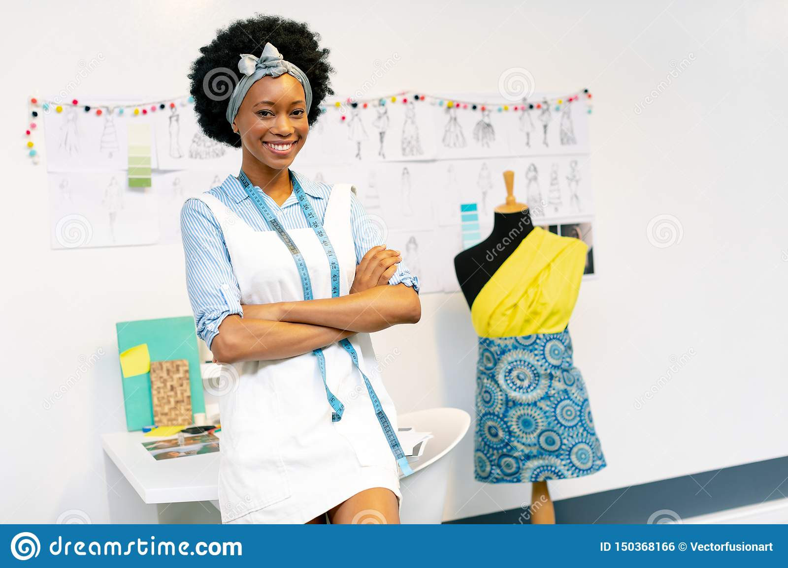 Female Fashion Designer With Arms Crossed Stock Photo Image Of Businesswoman Confident 150368166