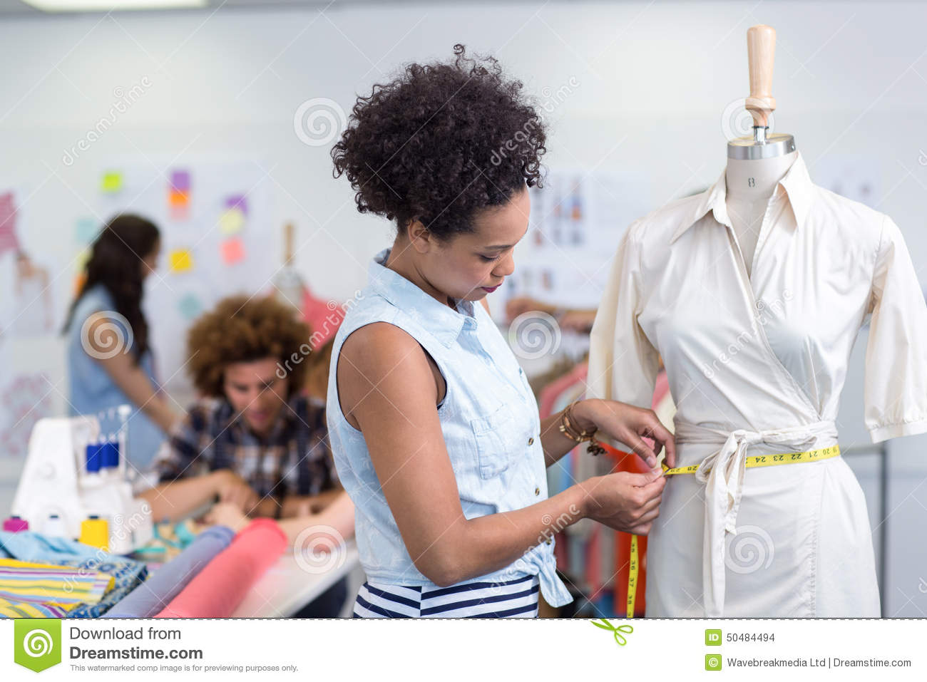 Female Fashion Designer At Work Stock Photo Image 50484494