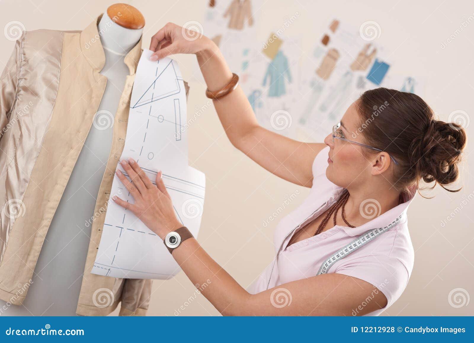 Female Fashion Designer Working Stock Photo - Image: 12212928