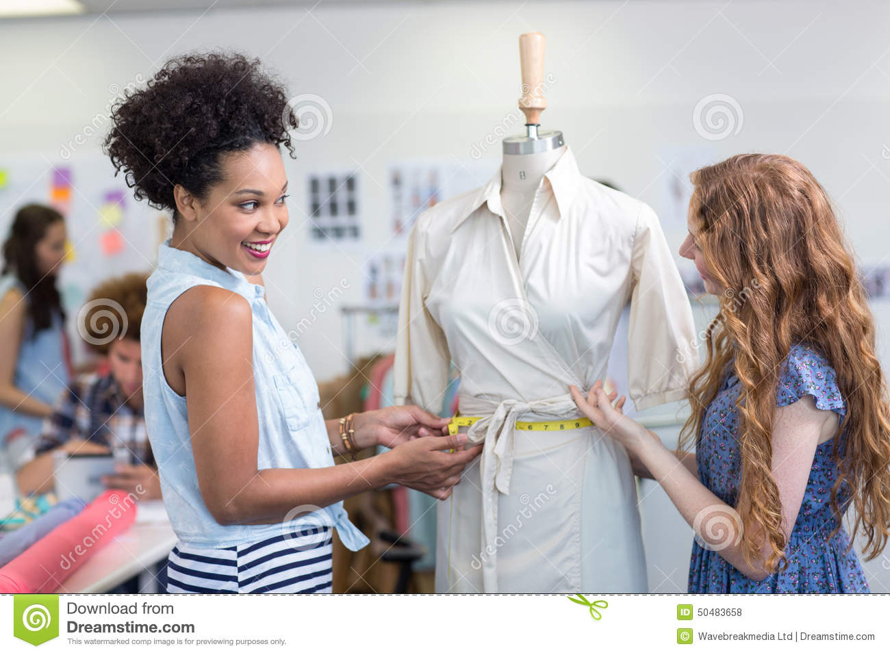 Female Fashion Designers At Work Stock Photo Image 50483658