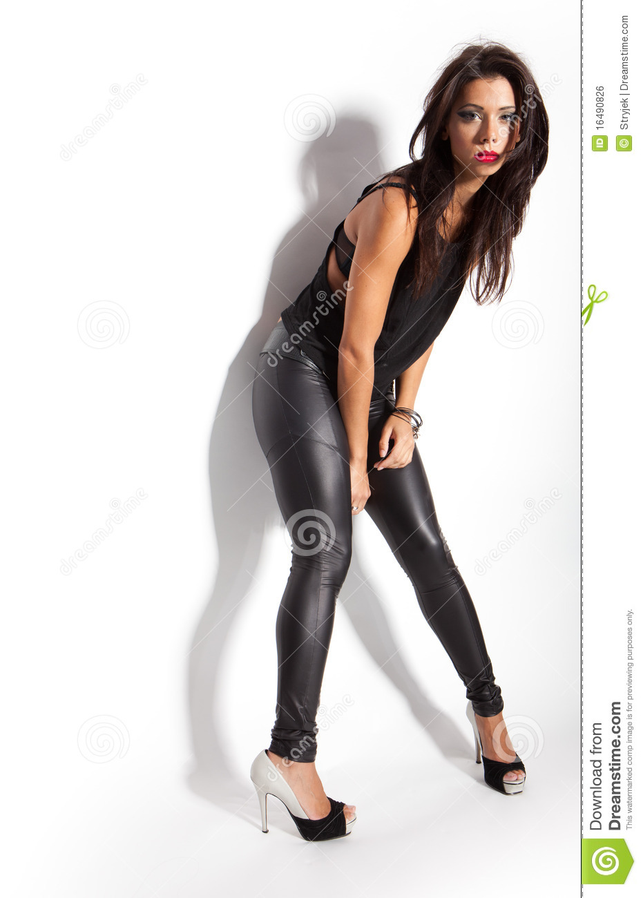 Female fashion model stock photo. Image of contact, adult ...
