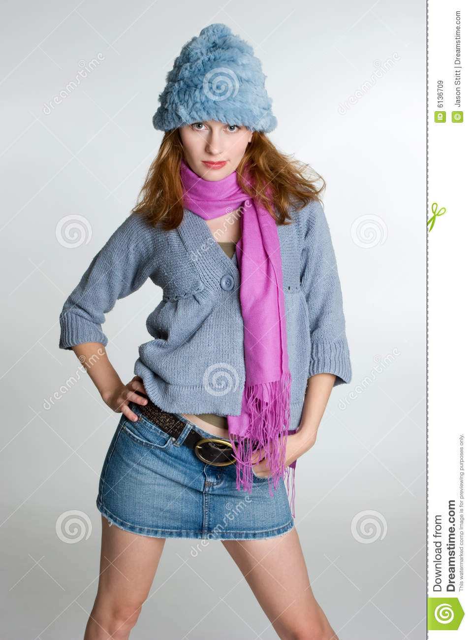 Female Fashion Model stock image. Image of female, gray ...