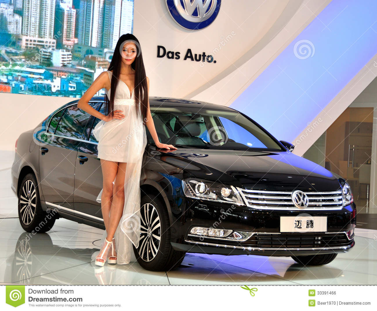 Female Fashion Models And Vw In Chengdu International Auto Show - Vw car show this weekend