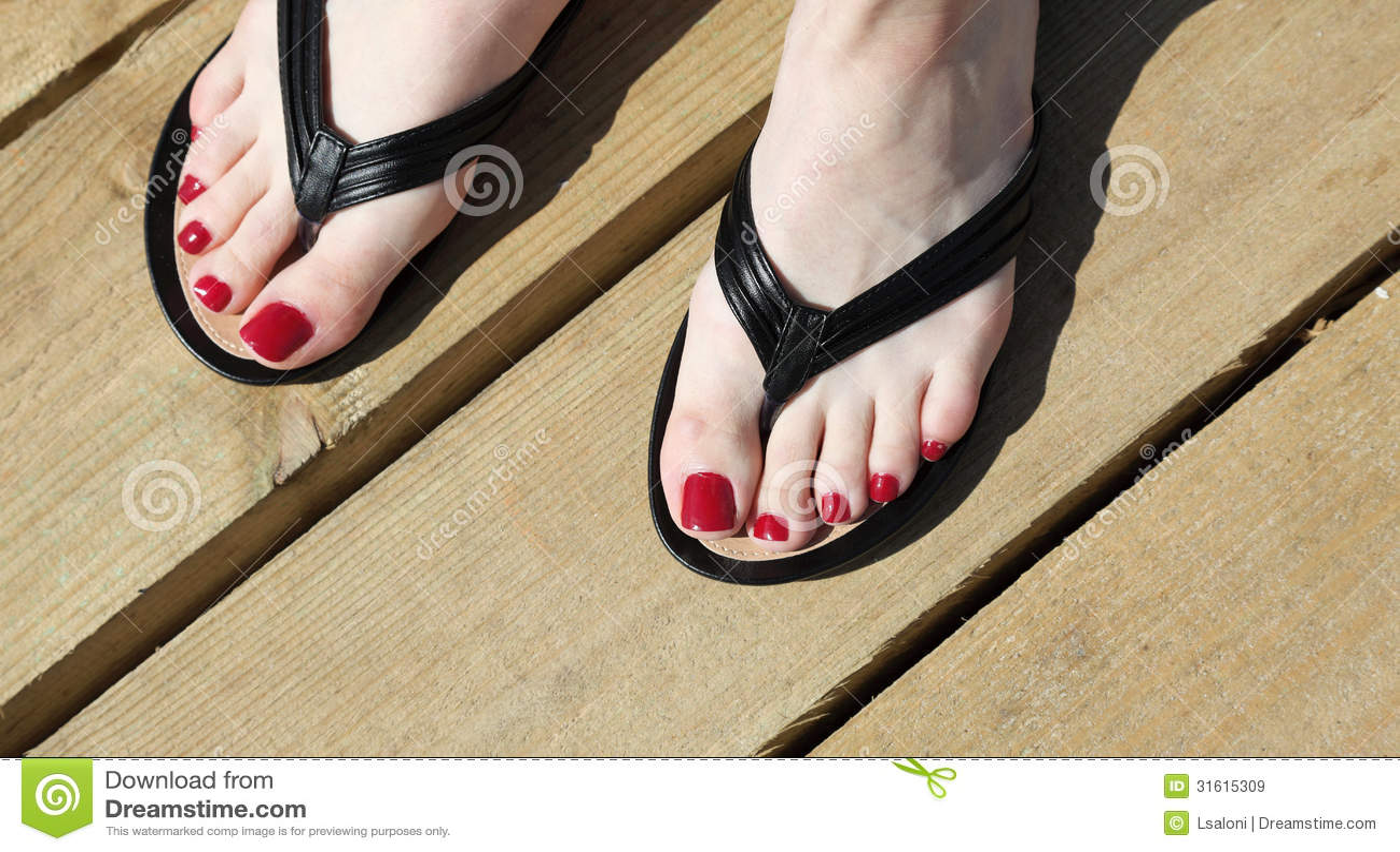 Flip flop feet will refrain