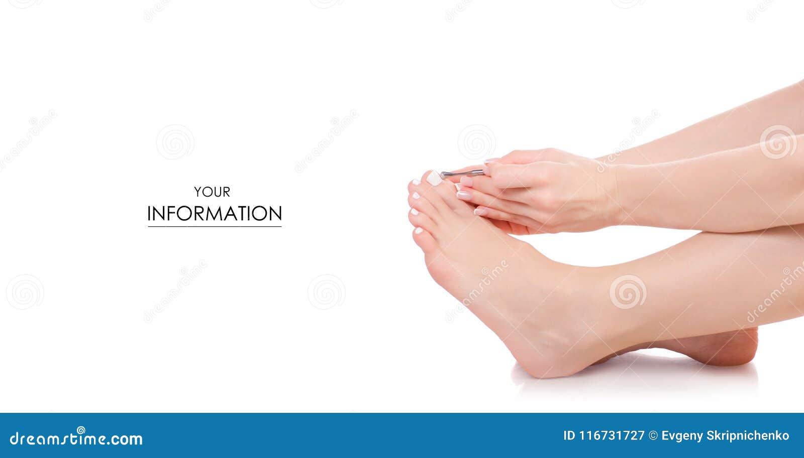 Female Feet Legs Pusher For Nails In Hands Pedicure Beauty Pattern ...